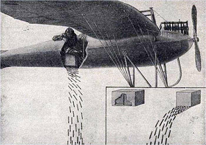 Uçaklarda Bomba Yerine Kullanılan Metal Oklar