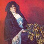 Osman Hamdi Bey - Mimozalı Kadın Tablosu