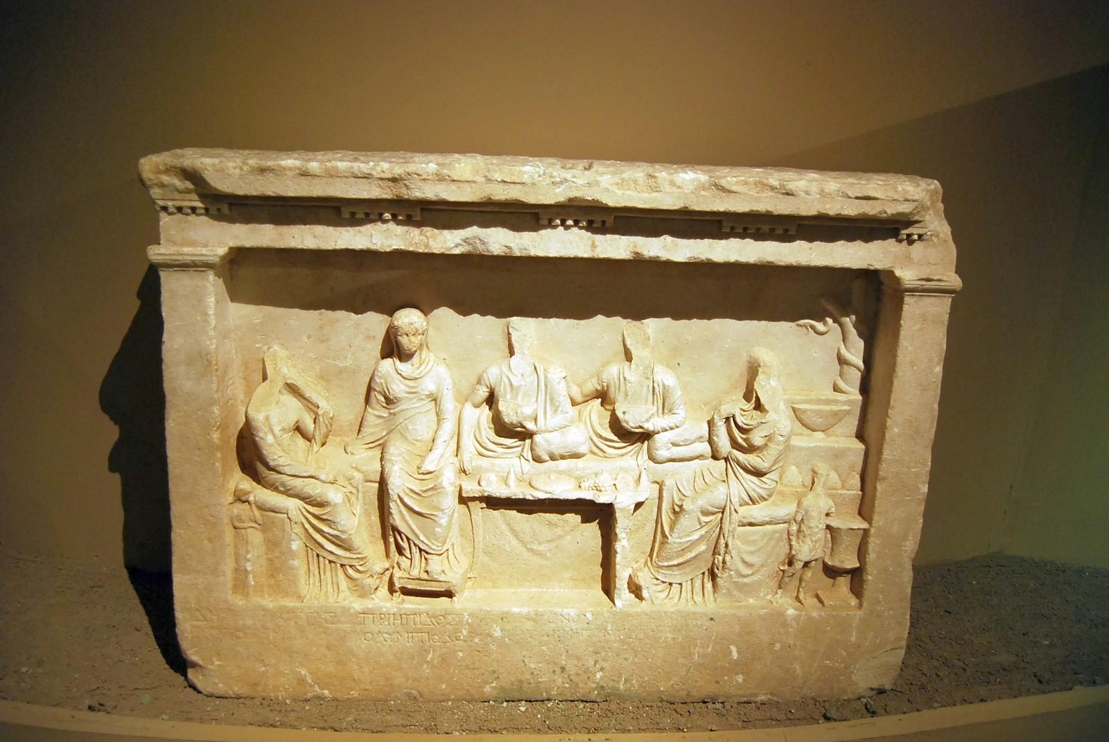Hellenistik Dönem'de İstanbul Müzesi'nde Cyzicus'tan mermer garve steli