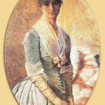 Osman Hamdi Bey - Naile Hanım Portresi Tablosu 2