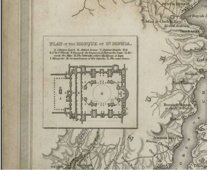 Eski İstanbul Haritası Detay 3